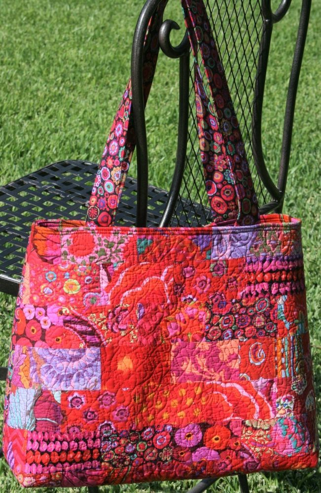 Quilted Bag in Kaffe Fassett Fabric jsuey1