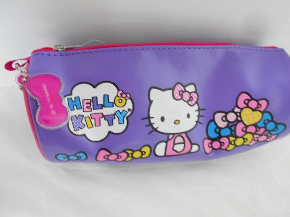 Sanrio Hello Kitty Pencil Case Cosmetic Pouch Bag Brand New Licensed with  Tag  Sanrio da72725b37633