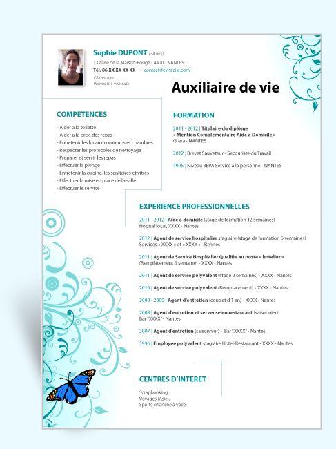 Modele Cv Original Auxiliaire De Vie Cv Auxiliaire De Vie Auxiliaire De Vie Exemple Cv