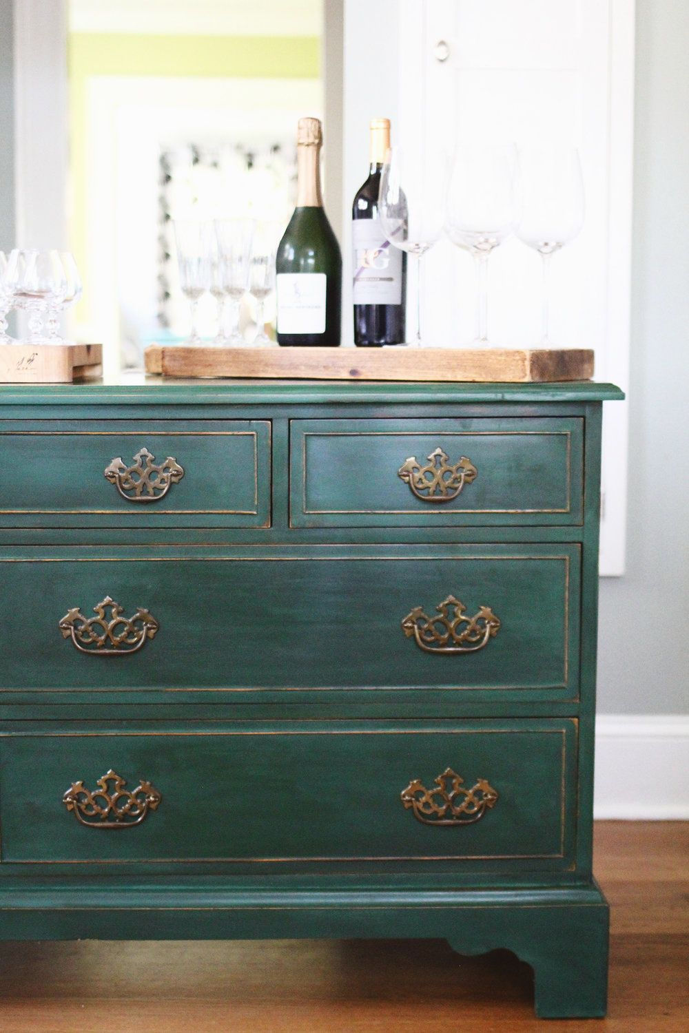 Testing New Colors Annie Sloan Amsterdam Green Dresser A Simpler Design A Hub For All Things Creative Stylist Photography Graphic Design Home Decor Painted Bedroom Furniture Green Dresser Painted Furniture