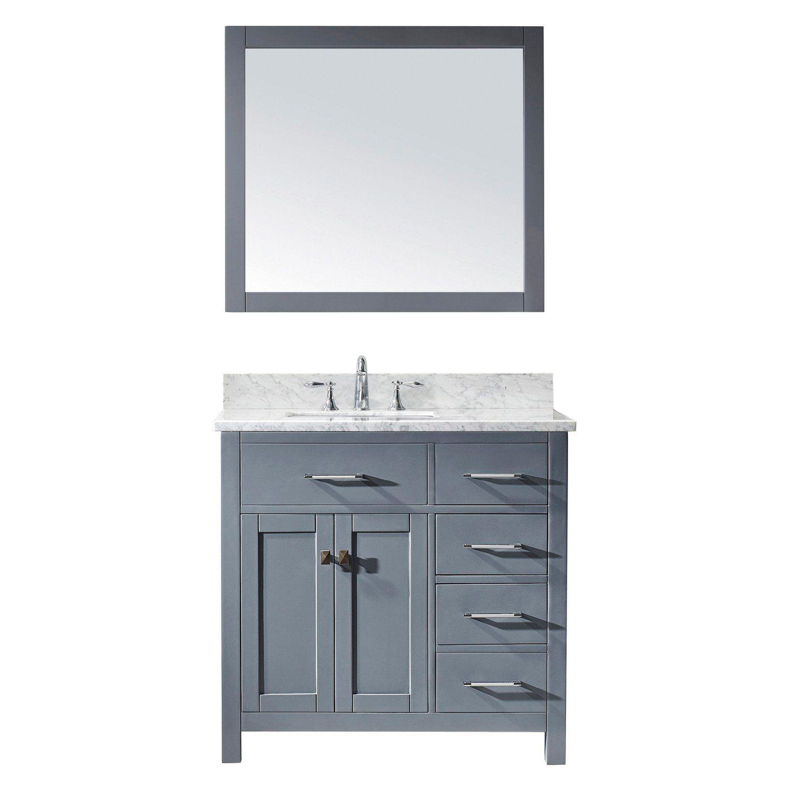 virtu usa caroline parkway 36 in single bathroom vanity with left rh pinterest com