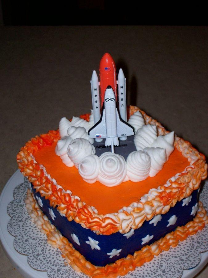 Amazing Space Shuttle Cake With Images Birthday Cake Kids Novelty Personalised Birthday Cards Vishlily Jamesorg