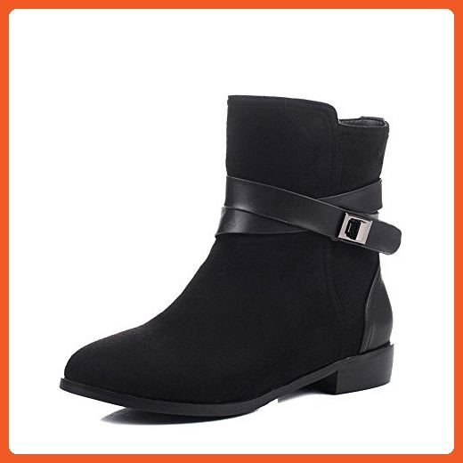 Women's Round Closed Toe Low-Heels Soft Material Low-top Solid Boots
