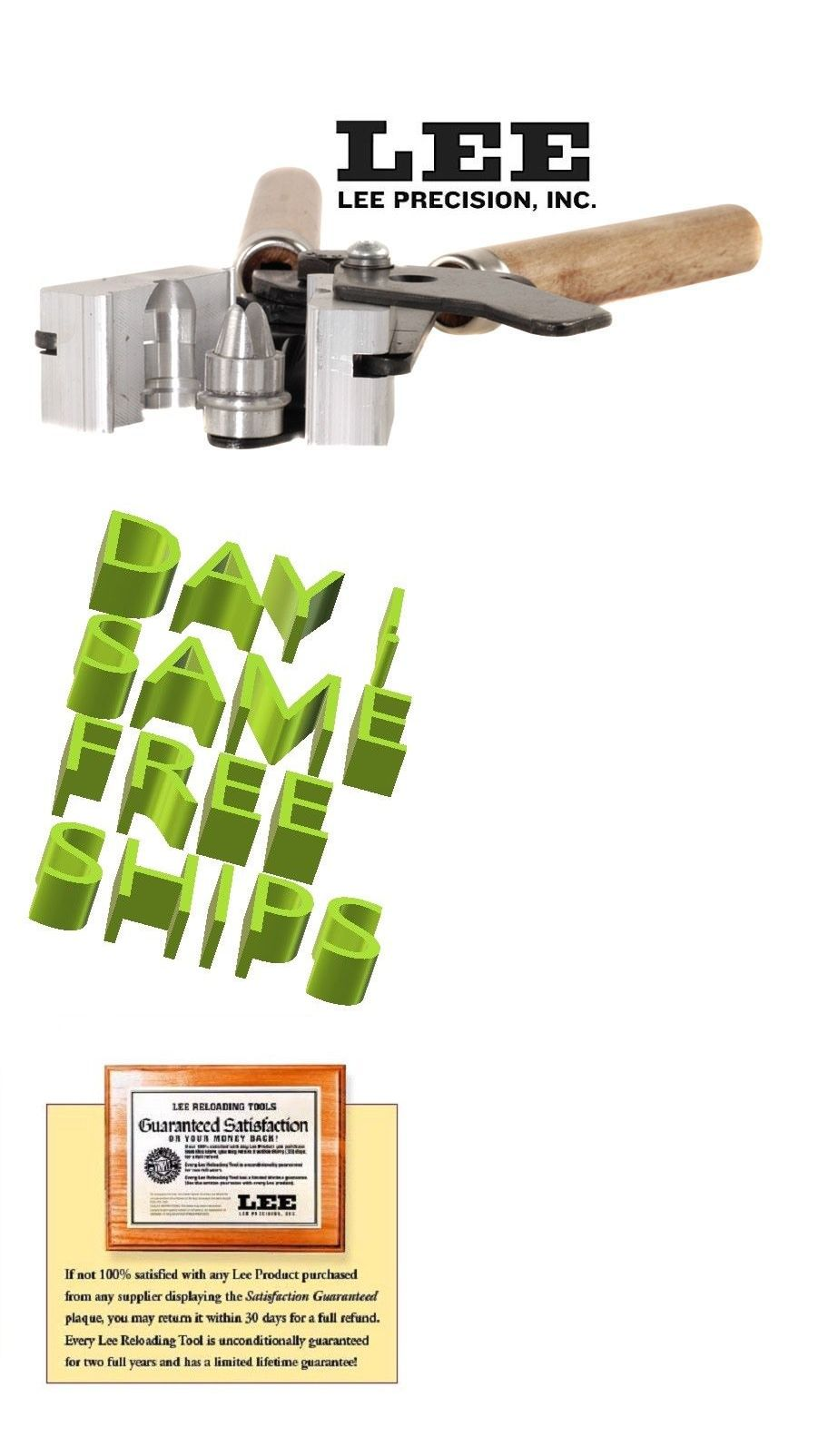 Reloading Equipment 31823: 90282 Lee 1-Cavity Shotshell Slug