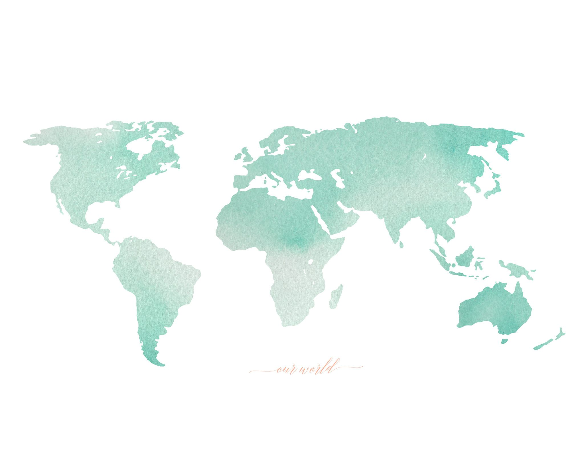 Pastel World Map Pastel World Map