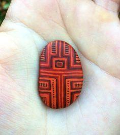 Unique hand painted pebble guardian trinket