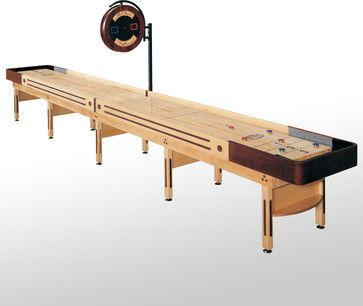 22' Natural Finish Prestige Shuffleboard Table #McClureTables