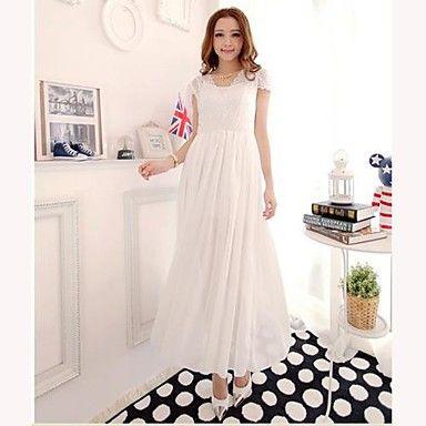 TS-Lace de empalme de la gasa del estilo bohemio maxi del vestido  – USD $ 34.99