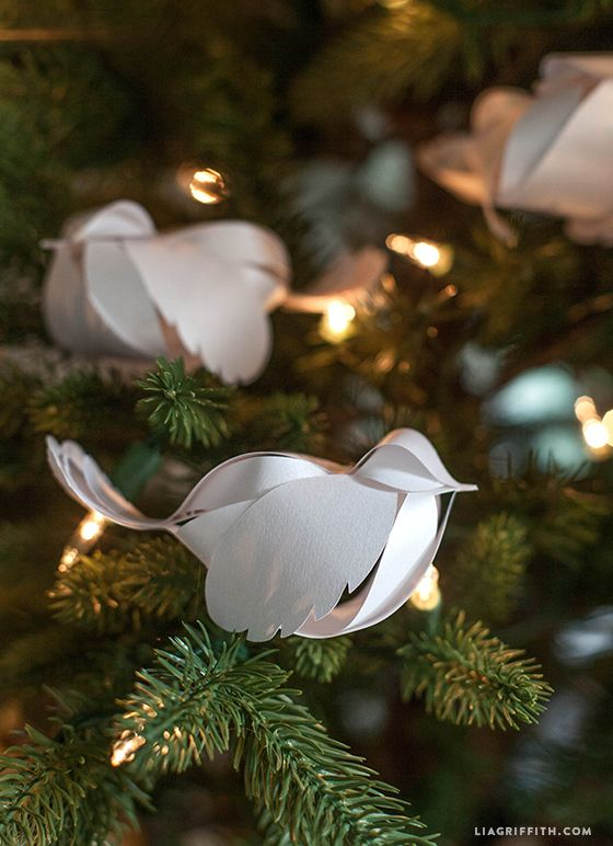 Bird Ornaments For Christmas Trees Part - 17: Paper Birds For Your Holiday Decorations Video Tutorial. Diy Christmas Tree  ...