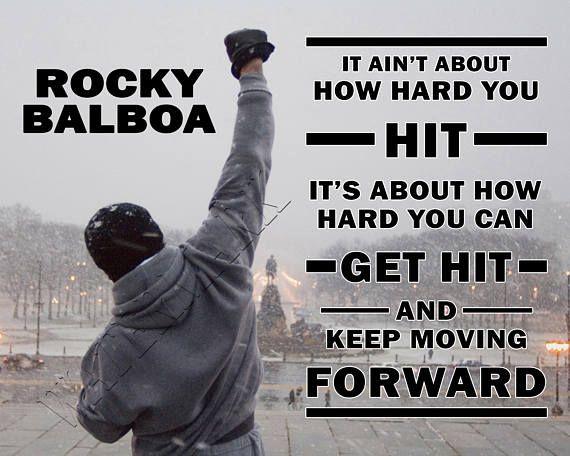 Rocky, Rocky Balboa, Rocky Quote, Rocky Print, Sylvester Stallone, Italian  Stallion, Boxing, Rocky Poster - 8x10 … | Rocky quotes, Rocky balboa  quotes, Rocky balboa