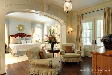 sitting room off master bedroom with slipcovered armchairs pretty rh pinterest co uk