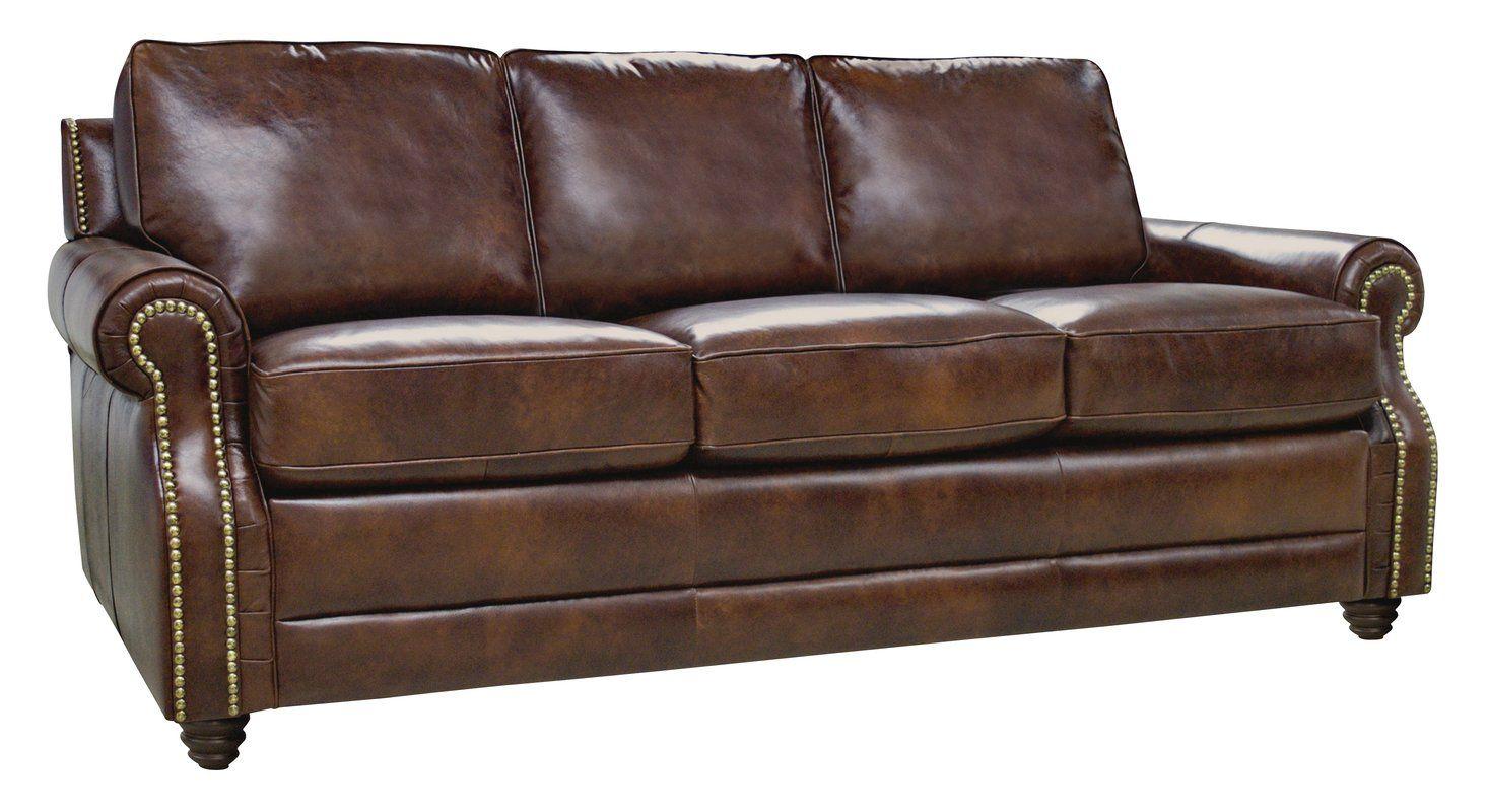 Mellor Leather 87 Round Arms Sofa Italian Leather Sofa Leather Sofa Sofa