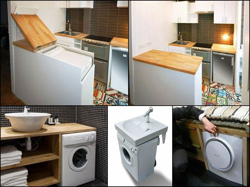 tiny house lots of different places to hide a washerdryer tinyhousehacks - Tiny House Washer Dryer