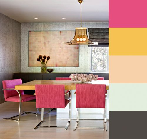 LA-based interior designer Jamie Bush is a master at blending color and styles. His rooms layer rich tones on a neutral base, weaving contemporary and vintage pieces in memorable silhouettes. In this week'sCMYLK, we createdColourlovers palettes from three rooms ina mid-century Brentwood compound owned by a former studio head.