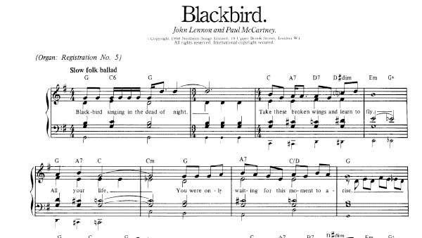 Blackbird Sheet Music Beatles With Images Sheet Music Sheet