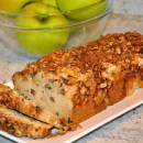 Apple Bread with Rolled Oats Topping