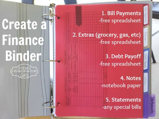 Orchard Girls Create A Finance Binder + FREE Spreadsheets