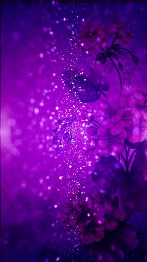 Sparkle Purple Flowers Madebyniki With Images Glitter Phone
