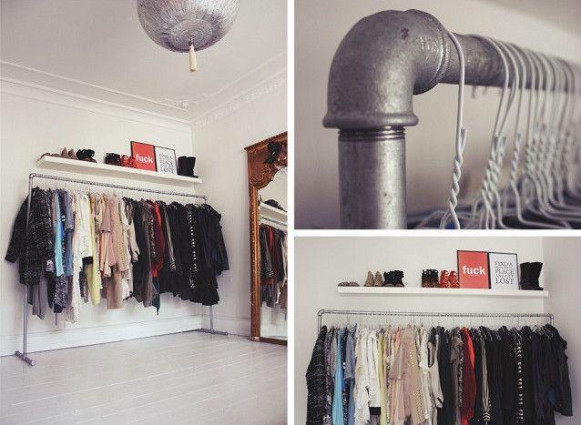 Diy free standing wardrobe design pinterest for Diy clothes closet