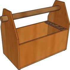 Extrem Werkzeugkiste, Werkzeugkasten, Holz selber bauen, Vorlage, PDF KR53