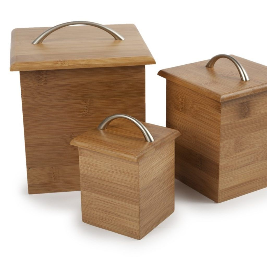 Superieur Bamboo Kitchen Canister Set