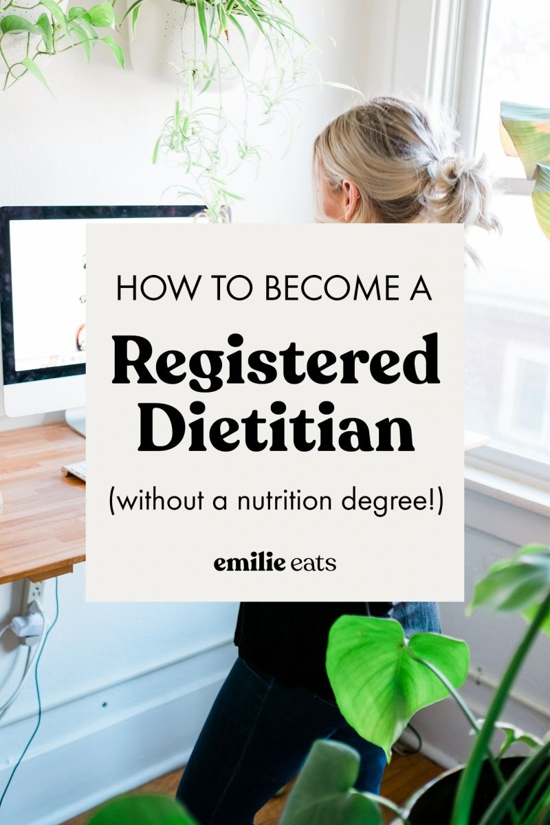 How to a registered dietitian without a nutrition