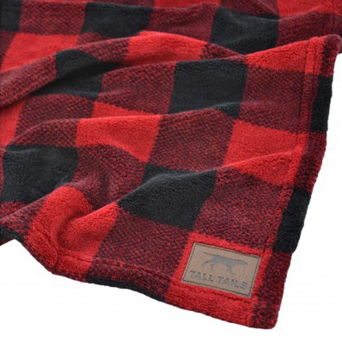 Tall Tails Fleece Dog Blanket Hunters Plaid Dog