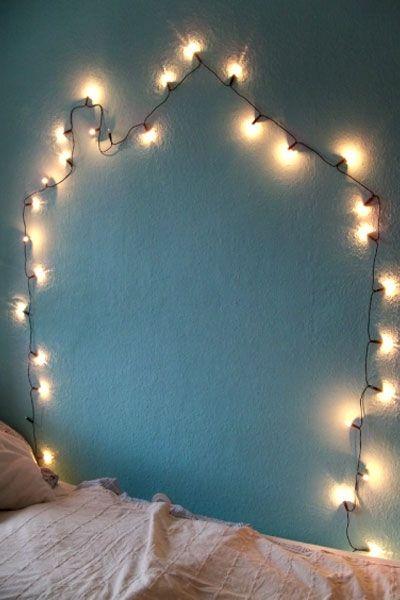 Wandbild Aus Lichterkette. Schlafzimmer WandbilderRomantische ...