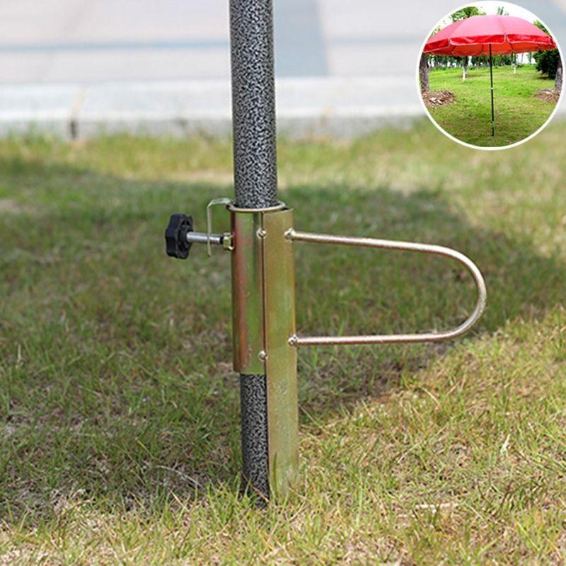 Ground Spike Patio Yard Parasol Stand Billboard Banner Flag Pole Metal Holder Wolle Kaufen