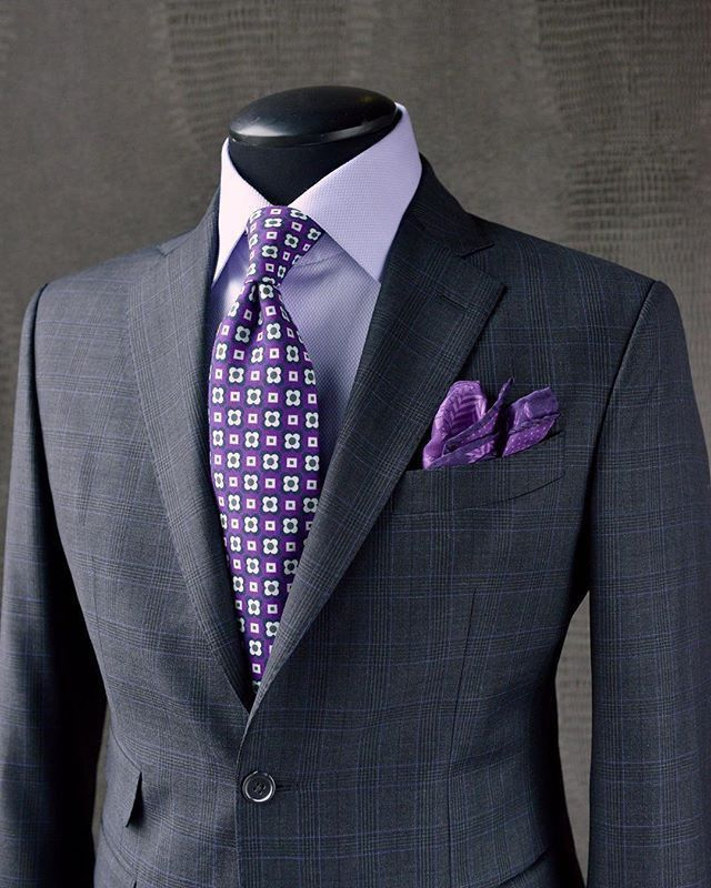 Men need to wear more purple. This outfit is gorgeous