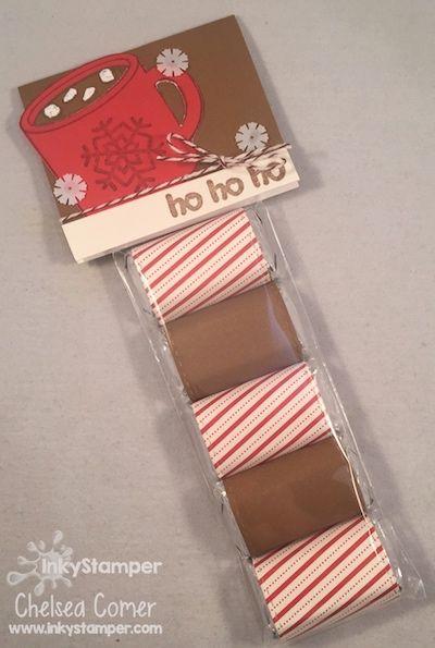 I love making fun chocolate treats ... here I used my Christmas Mug Bloom benefit stamp and dressed it up!