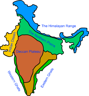 Deccan Plateau Map Image result for deccan plateau map | vcxz | India map, Geography
