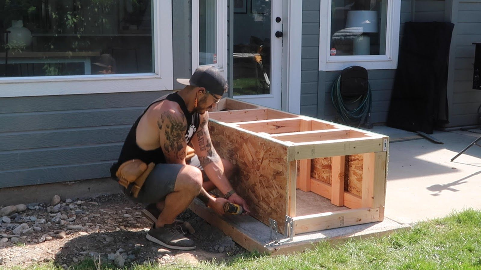 DIY BuiltIn Outdoor Grill Station in 2020 Built in