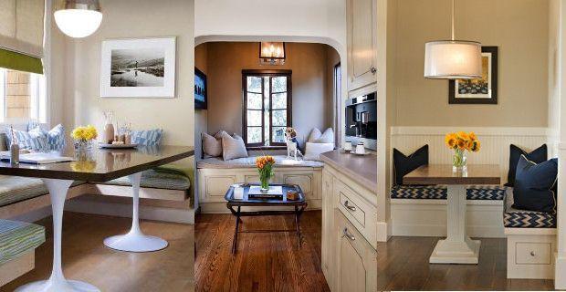 Bancos de cocina disenos modernos madera minimalistas for Mesa esquinera cocina