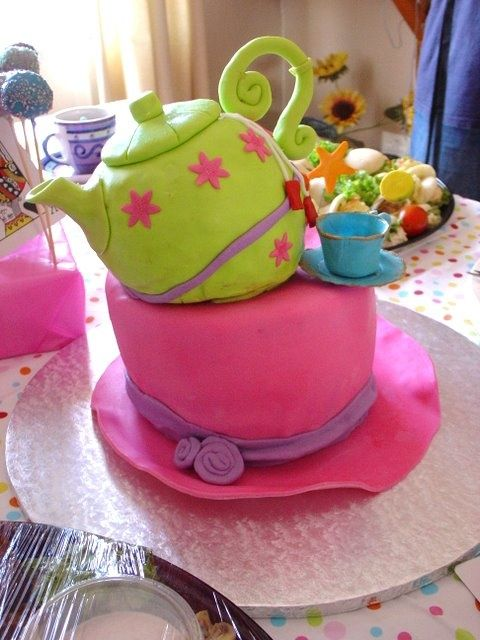 Image Result For Tea Party Second Birthday Cake Second Birthday