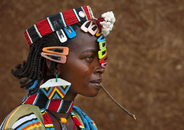 Fashion in Bana tribe, Key Afer, Omo, Ethiopia Fashion