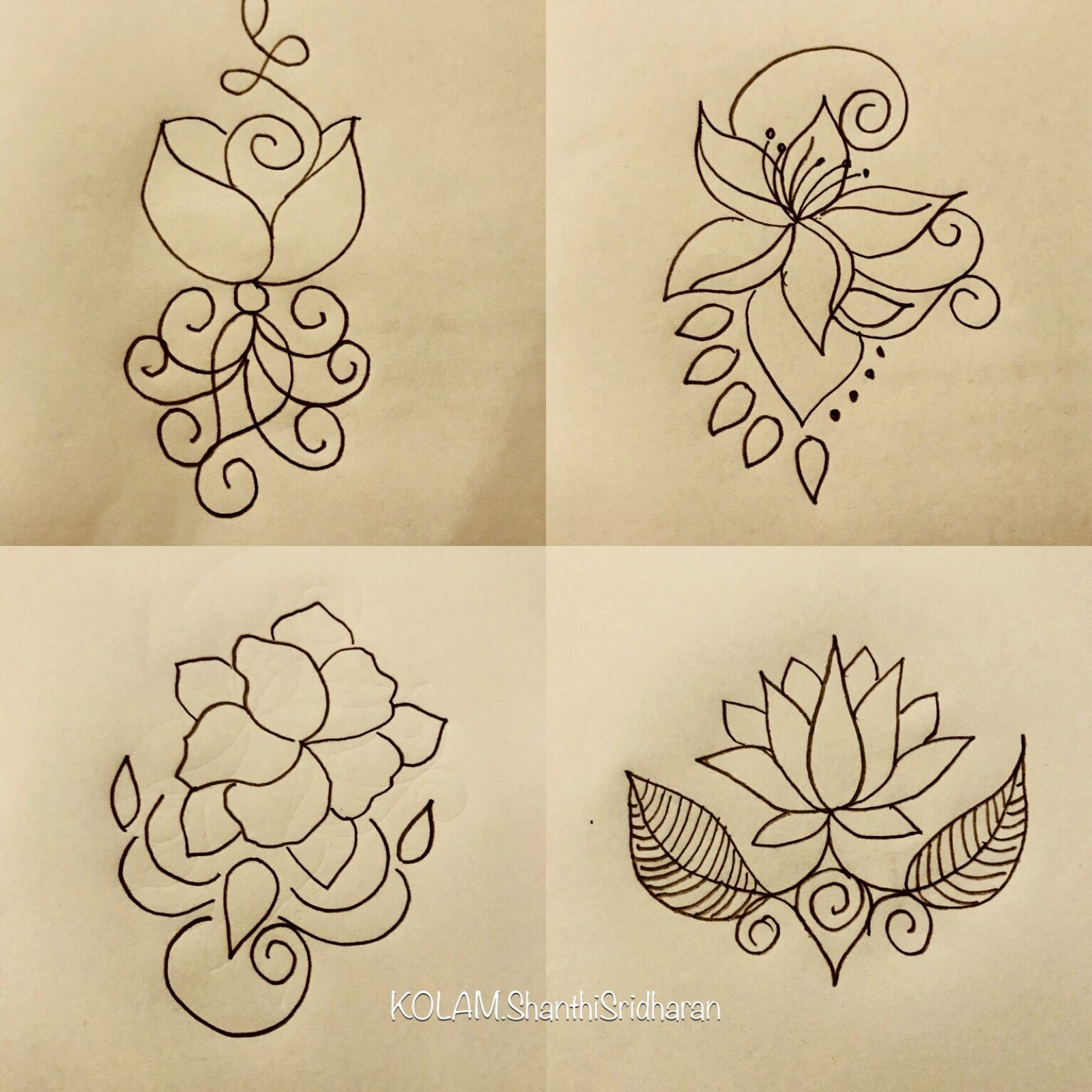 Pin By Shanthi Sridharan Kolam On Simpleart Simpledesign Easyart