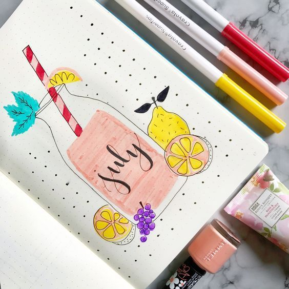18 Creative Bullet Journal Pages for July - #journaling