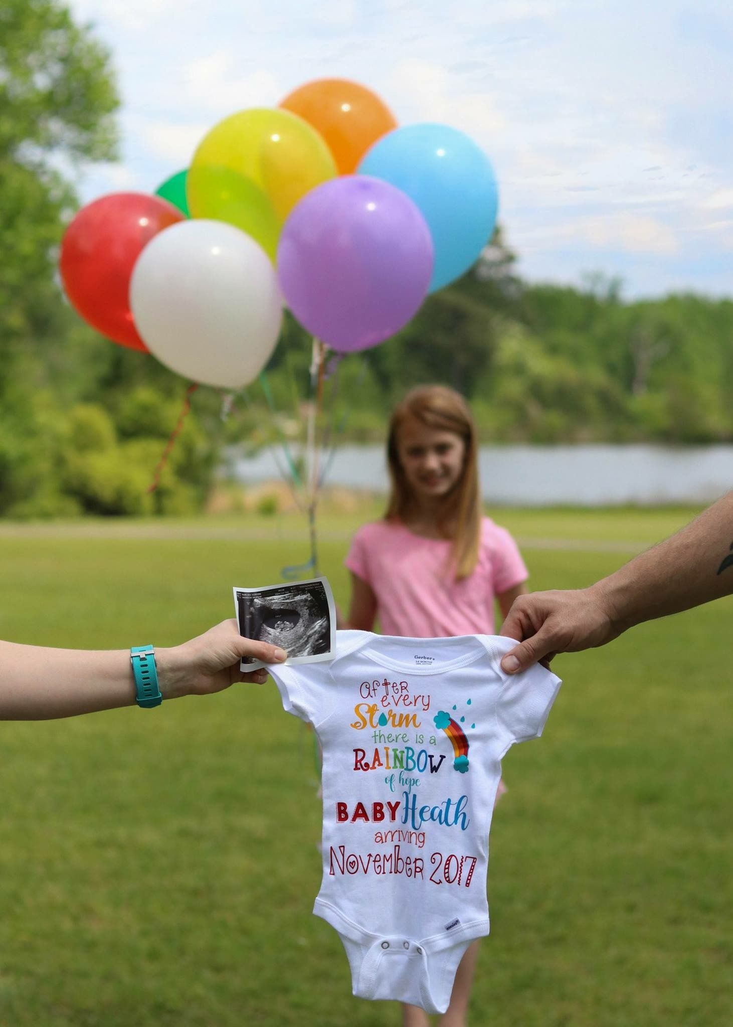 Rainbow Baby Announcement With Images Baby Announcement