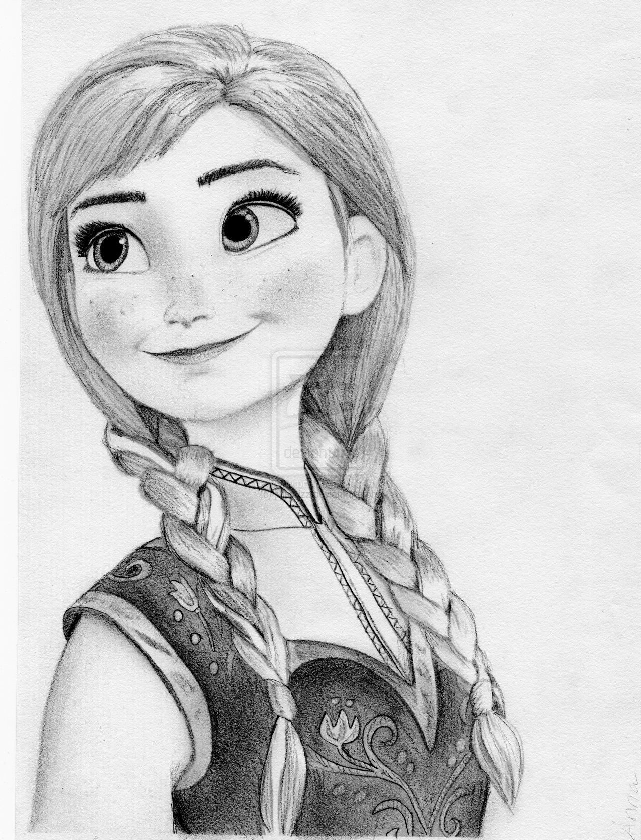 Anna From Disney S Frozen By Julesrizz On Deviantart Disney Princess Drawings Disney Princess Sketches Princess Sketches