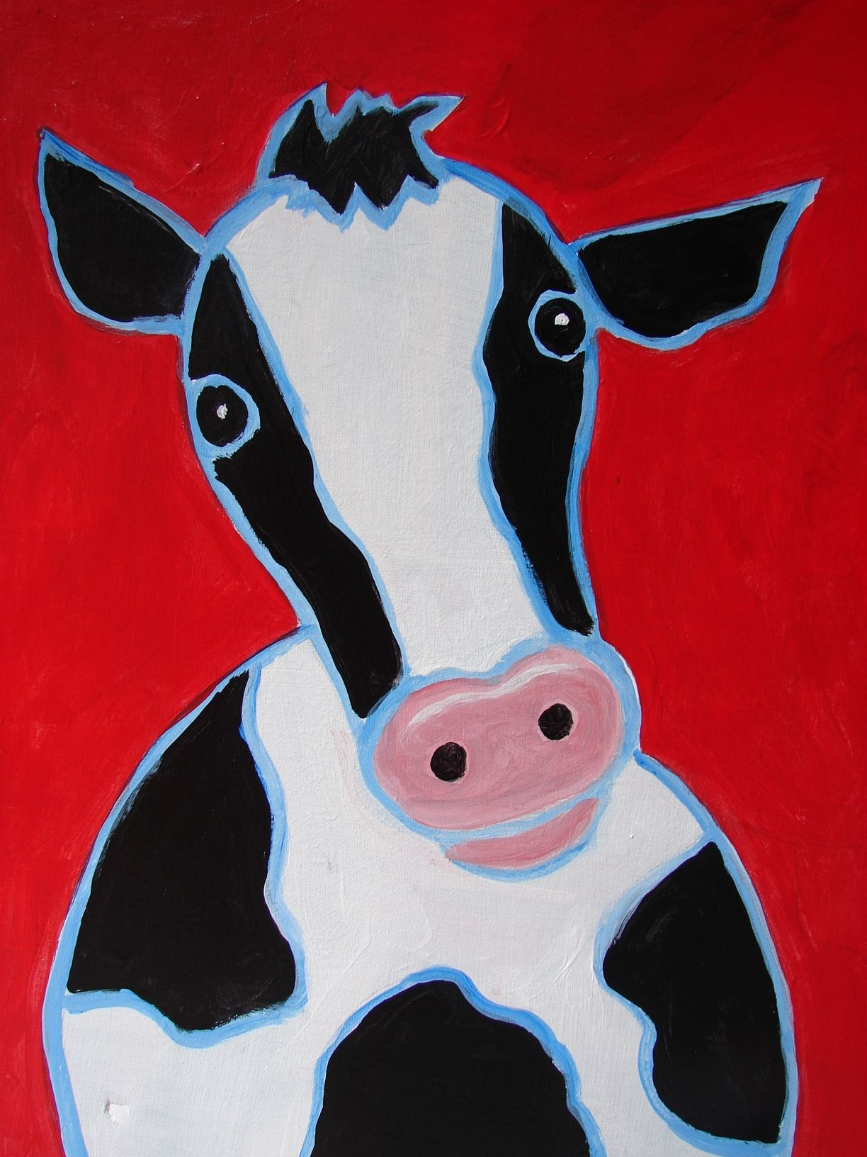 Simple Cow To Draw Painting Ideas Pinterest Cow