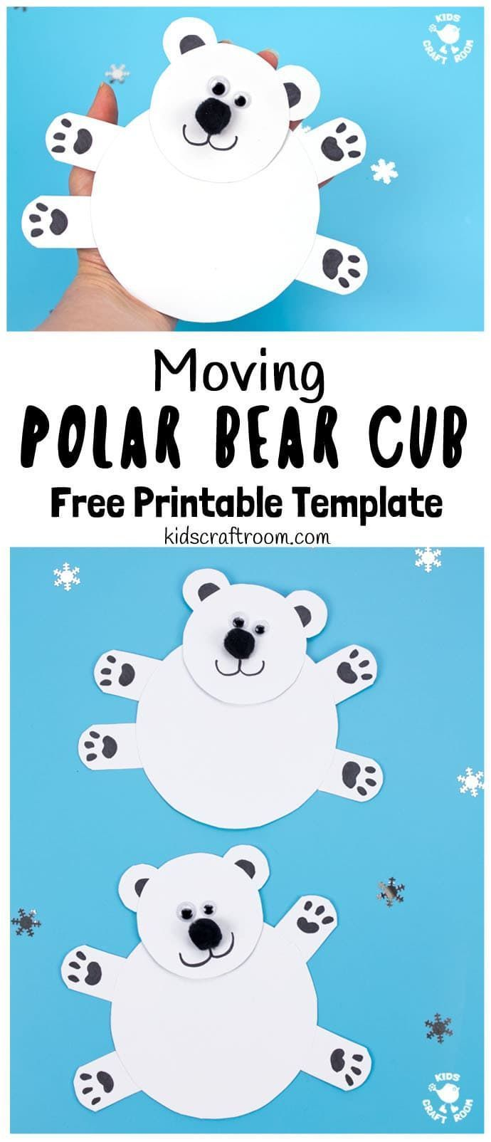 Photo of Moving Polar Bear Cub Craft