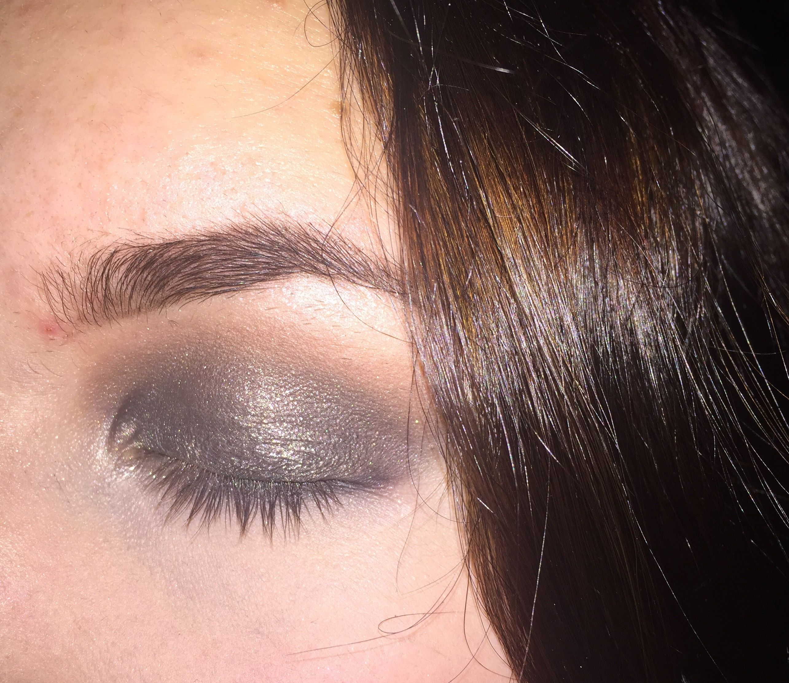 Smoked out a black eyeshadow with a bronzer