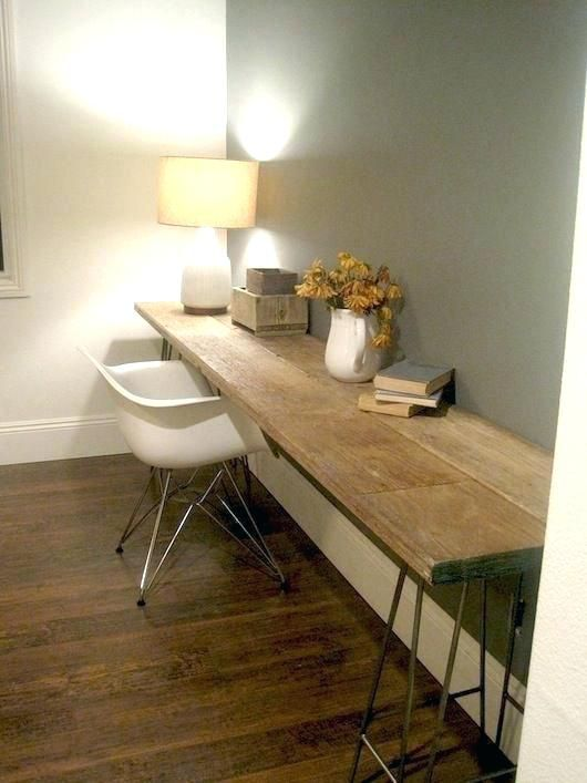Floating Desk Ideas Wall To Wall Desk Kids Room Desk Ideas Reclaimed Wood Desk Maybe I Could Use This Floating Co Interior Reclaimed Wood Desk Home Goods Decor