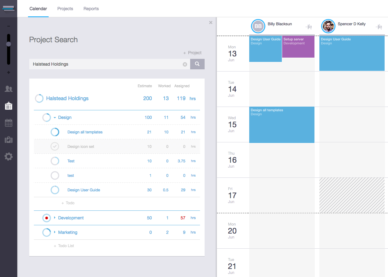 Workstack Project Task List Panel Inside The Calendar Ui Ux Web