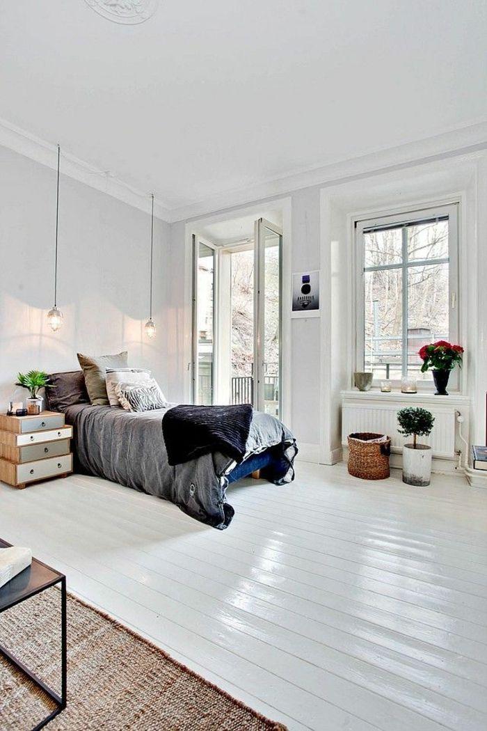 Le parquet blanc - une jolie tendance déco - Archzine.fr | Tapis ...