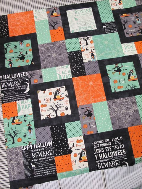 This gives me an idea for setting odd blocks. I like the black ... : halloween quilt blocks - Adamdwight.com