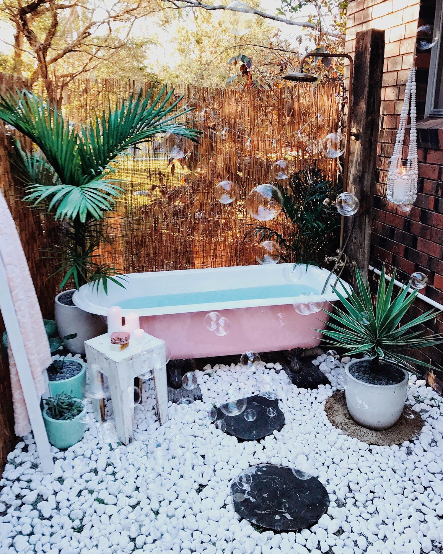 Bathroom Outdoor: DIY Outdoor Bath Spell & The Gypsy Collective