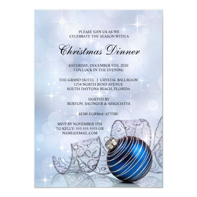 Dinner Party Invitation TemplateChristmas Dinner Party Invitation Template