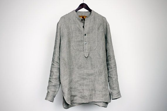 Items Similar To Shirt From 100 Natural Linen For Male On Etsy Linen Fashion Menswear Linen Shirt